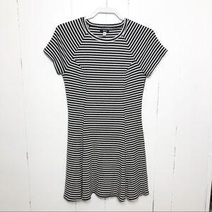 BDG Black White Stripe Skater Dress